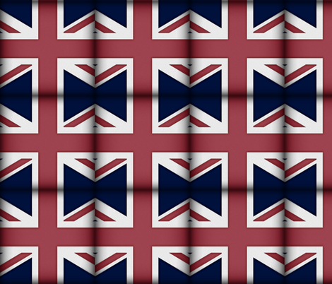 Union Jack Charm Squares fabric by peacoquettedesigns on Spoonflower - custom fabric