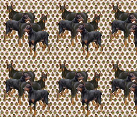 doberman fabric by dogdaze_ on Spoonflower - custom fabric