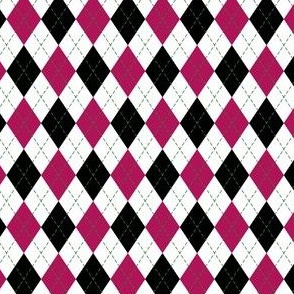 Argyle in Pink and White