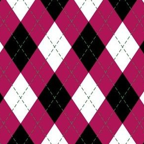 Argyle in Pink and Black