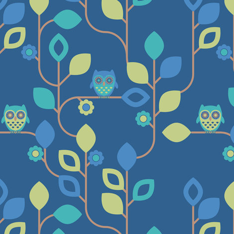 Hoot Hoot fabric by ebygomm on Spoonflower - custom fabric