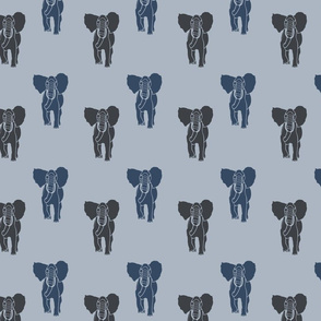 Blue and Gray Elephants