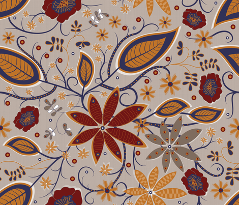 Kuler Flower Garden fabric by liluna on Spoonflower - custom fabric