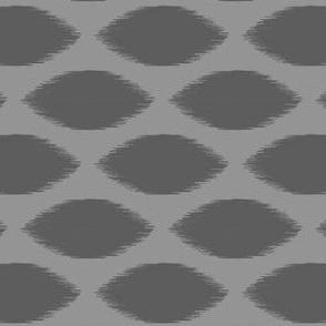 Gray Ikat Dot