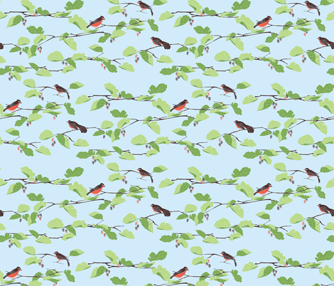 The Mulberry Thieves fabric by audsbodkin on Spoonflower - custom fabric