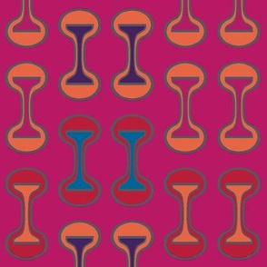 African Barbells Multi Color on Magenta