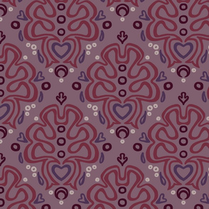 Loopy Damask in Romantic