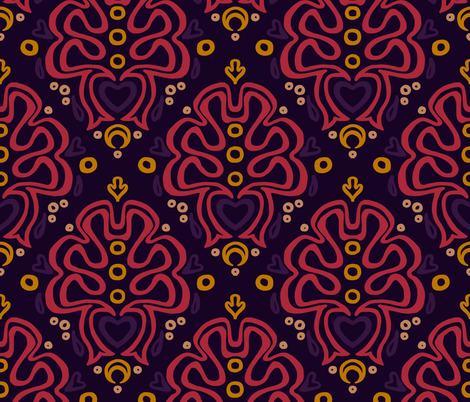 Loopy Damask in Nightlights