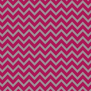 Chevron in Pink and Grey