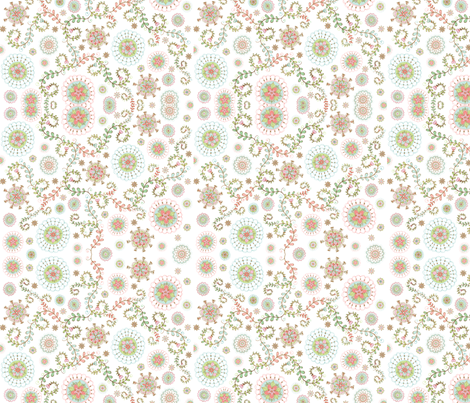 Gracie Floral fabric by joditt on Spoonflower - custom fabric
