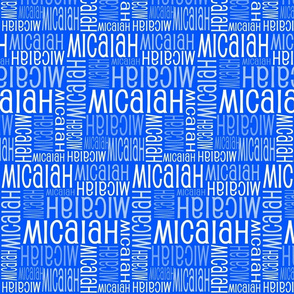 Personalised Name Fabric - Royal Blue