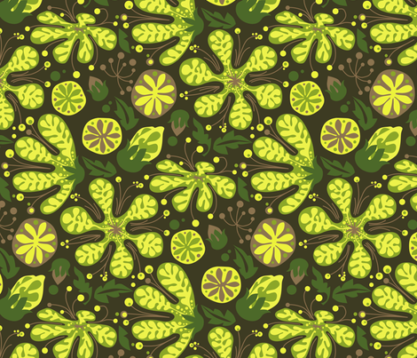 Wild_Succulents-02 fabric by robinpickens on Spoonflower - custom fabric