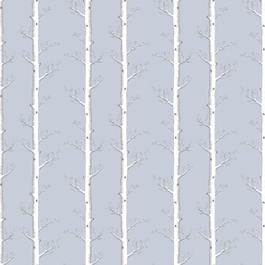 Infinity Trees on Grey for Silk Fabric