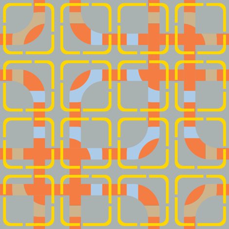 Spring 2014 ~ Field Day ~ Sack Race fabric by peacoquettedesigns on Spoonflower - custom fabric
