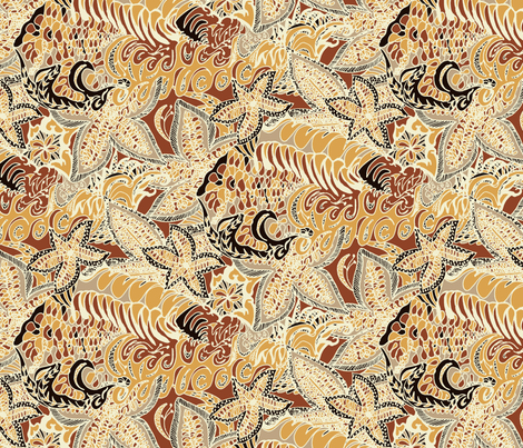 A Wide Brown Land fabric by rhondadesigns on Spoonflower - custom fabric