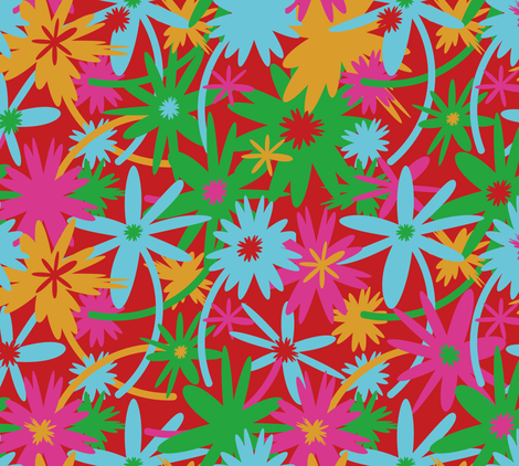 "Inspired by ""Jeff Koons"" fabric by cassiopee on Spoonflower - custom fabric"