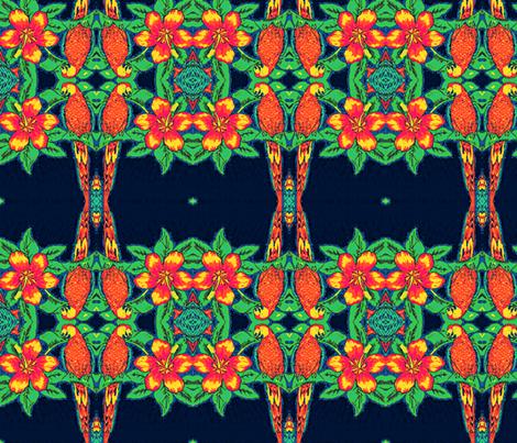 tropical parroting again fabric by ann-dee on Spoonflower - custom fabric
