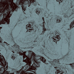 Roses in Pen and Ink