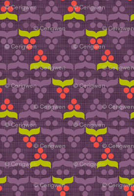 Geometric Holiday: Berry