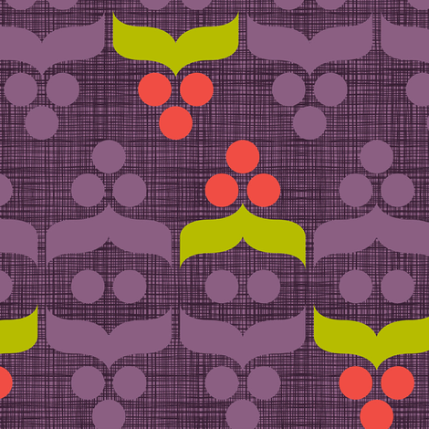 Geometric Holiday: Berry fabric by cerigwen on Spoonflower - custom fabric