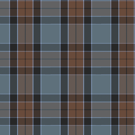 altered Graham of Menteith tartan (weathered, with cyan) fabric by weavingmajor on Spoonflower - custom fabric