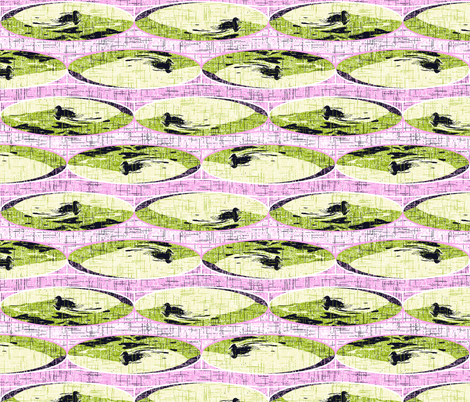 Bridge in the Garden fabric by inscribed_here on Spoonflower - custom fabric