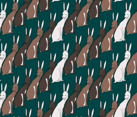 Kuler Rabbits fabric by pond_ripple on Spoonflower - custom fabric