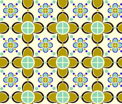 metro_flower fabric by paintedstudio on Spoonflower - custom fabric