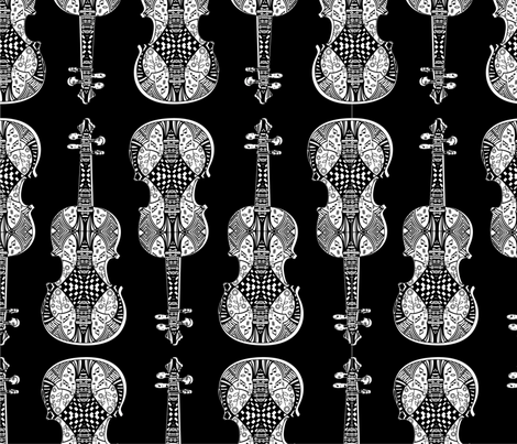 violin_print fabric by gomingo on Spoonflower - custom fabric