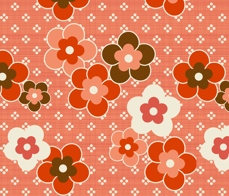Retro_Blooms fabric by mrshervi on Spoonflower - custom fabric