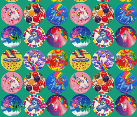 Lisa Frank Sticker Collage