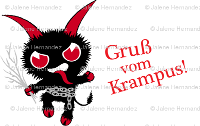 Krampus Christmas Gift Wrap