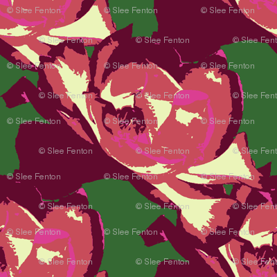 Midsummer Roses Galore Abstract
