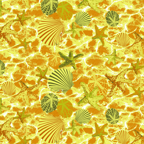 Ocean Treasure fabric by art_on_fabric on Spoonflower - custom fabric