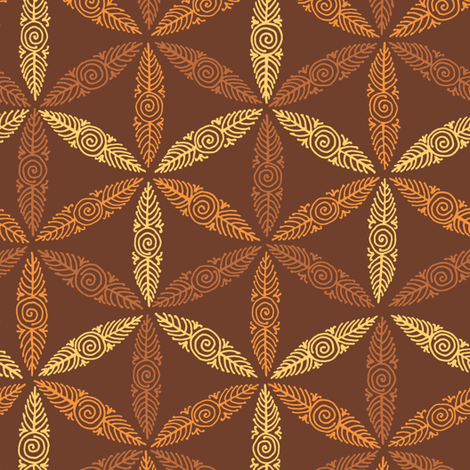 Circle of Life - copper fabric by weavingmajor on Spoonflower - custom fabric