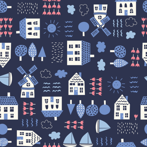 delf_conversational fabric by stacyiesthsu on Spoonflower - custom fabric