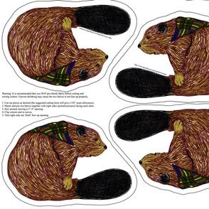 beaver plushie yard