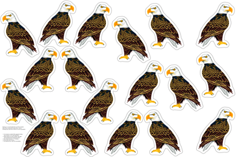 eagle plushie yard fabric by evenspor on Spoonflower - custom fabric