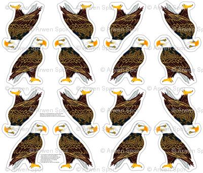eagle plushie yard