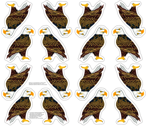 eagle plushie yard fabric by evenspor on Spoonflower - custom fabric