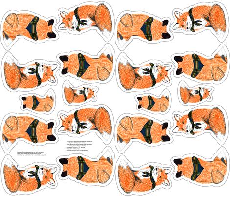 fox plushie yard fabric by evenspor on Spoonflower - custom fabric