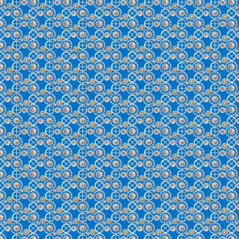 Ditsy Gears fabric by artgarage on Spoonflower - custom fabric