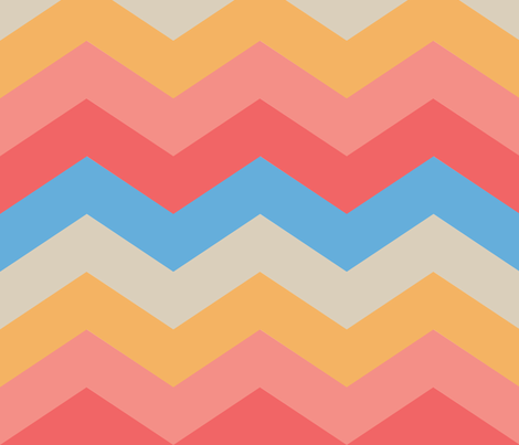 California Sunset - Chevrons fabric by jaana on Spoonflower - custom fabric