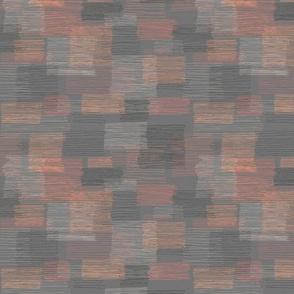 Square Lines - grey orange