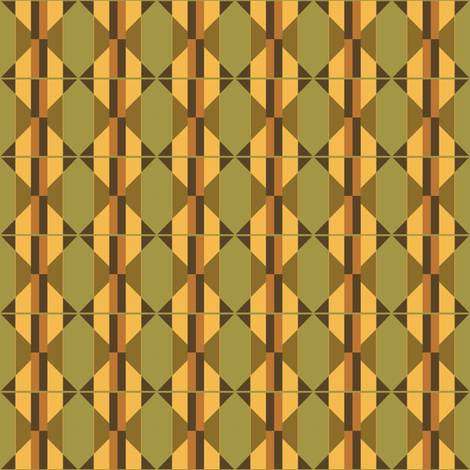 Lane with Poplars inspired abstract fabric by dbvisualarts on Spoonflower - custom fabric