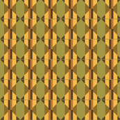 Olive green and gold abstract