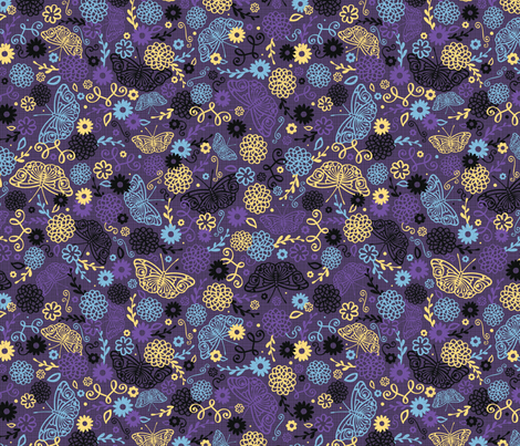 The Kulest Garden fabric by jennartdesigns on Spoonflower - custom fabric