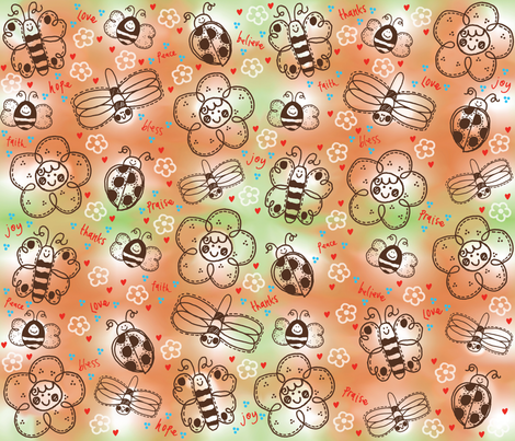 Flowery Friends fabric by dwdesigns on Spoonflower - custom fabric
