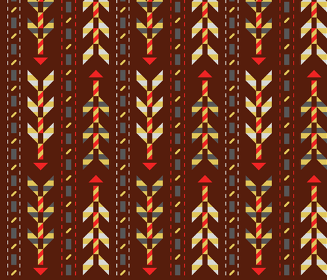 Vintage Arrows fabric by vetmari on Spoonflower - custom fabric