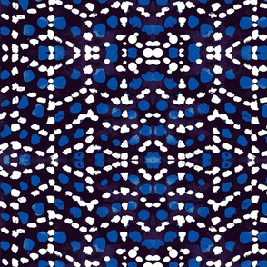 Batik in blue and white small
